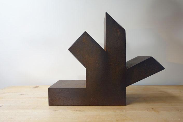 O.T., Stahl geschweisst, 32 x 40 x 14,5 cm, 2014