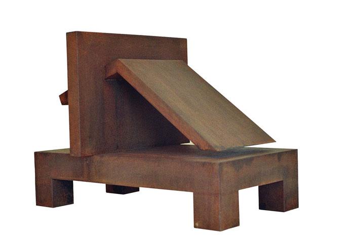 O.T. Stahl geschweisst, 46 x 63 x 34 cm, 2007