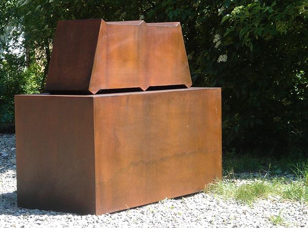 O.T., Stahl geschweisst,  40 x 90 x 31 cm, 2012