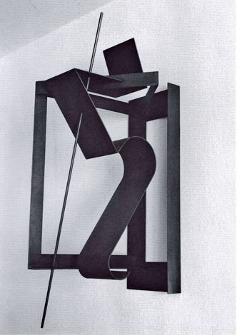 O.T.,Stahl geschweisst, 94 x 38 x 48 cm, 1999