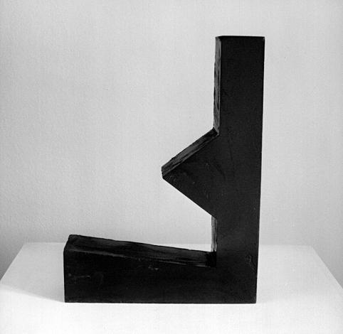 O.T., Asphalt gegossen, 57 x 42 x 11 cm, Multipe drei Stück, 2000