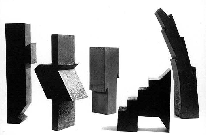 Kleinformate, O.T., Stahl geschweisst, Höhe 22 - 29 cm, 1997 / 1998