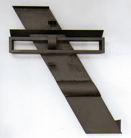 O.T., Stahl geschweisst, 120 x 104 x 21 cm, 1998